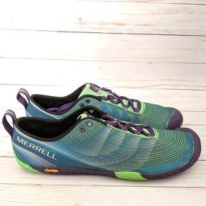 Merrell Vapor Glove 2 Green Purple Shoes Size 10